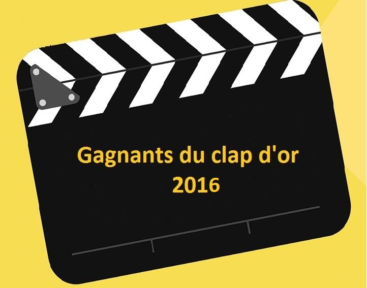 Gagnants du Clap d'Or 2016