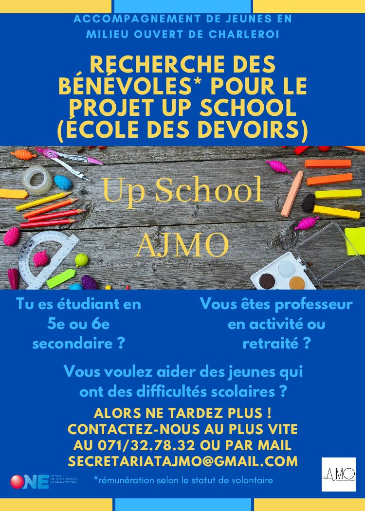 Read more about the article L'AJMO recherche des bénévoles pour le projet Up School